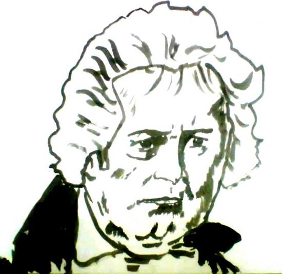 Ludwig van Beethoven by arun